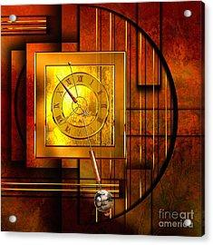 Amber Clock Acrylic Print by Franziskus Pfleghart