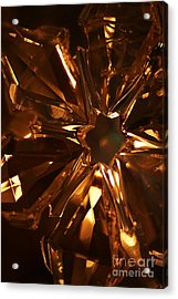 Acrylic Print featuring the photograph Amber Crystal Snowflake by Linda Shafer