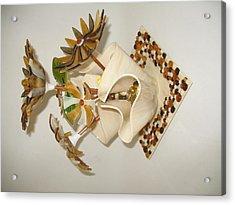 Amber Flowers Acrylic Print by Steven Schramek