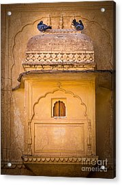 Amber Fort Birdhouse Acrylic Print by Inge Johnsson