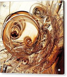 Amber Magic Acrylic Print by Anastasiya Malakhova