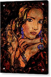 Amber Acrylic Print by Natalie Holland