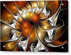 Amber Vortex Acrylic Print by Anastasiya Malakhova