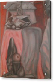 Acrylic Print featuring the painting Ambiguous by Thomasina Durkay