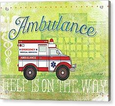 Ambulance Acrylic Print by Jennifer Pugh