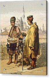 Ambulant Snack Sellers, 1865 Acrylic Print