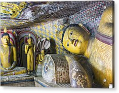 Dambulla Golden Temple  Cave No. 4 Acrylic Print by Maria Heyens
