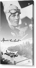Amelia And Lockheed Electra Acrylic Print by Daniel Hagerman
