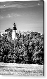 Amelia Island Lighthouse Acrylic Print by Wade Brooks