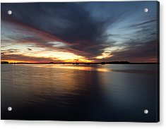 Amelia Island Sunset Acrylic Print by Wade Brooks