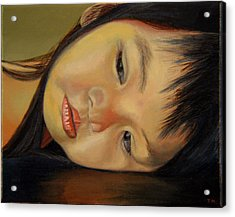 Amelie-an 12 Acrylic Print by Thu Nguyen