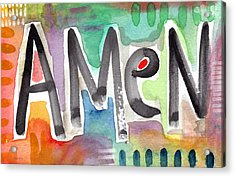 Amen- Colorful Word Art Painting Acrylic Print