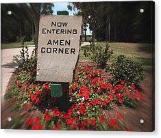 Amen Corner - A Golfers Dream Acrylic Print