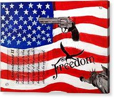 Amendment II Acrylic Print by Made by Marley