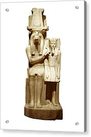 Amenhotep IIi And God Sobek. S.xiv Bc Acrylic Print by Everett