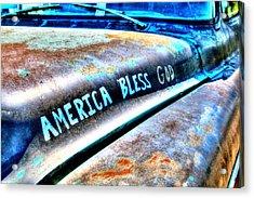 America Bless God Acrylic Print by Lorri Crossno