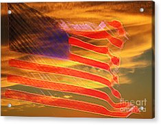America Distress Acrylic Print by Beverly Guilliams