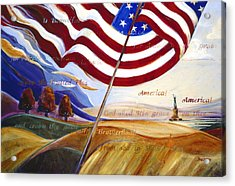America Acrylic Print by Jen Norton