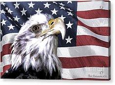 America Acrylic Print by Linda Blair