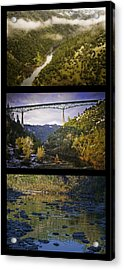 American River Triptych Acrylic Print