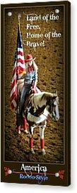 America -- Rodeo-style Acrylic Print