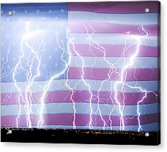 America The Powerful Acrylic Print by James BO  Insogna