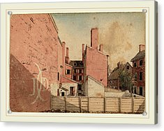 American 19th Century, A View From An East Window Acrylic Print