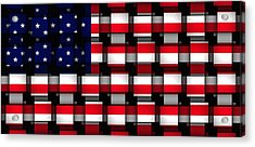 American Abstract Acrylic Print by L Brown