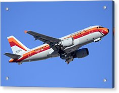 American Airbus A319-112 N742ps Psa Legacy Phoenix Sky Harbor December 24 2014  Acrylic Print by Brian Lockett