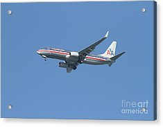 American Airlines Jet 7d21917 Acrylic Print by Wingsdomain Art and Photography