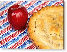 American As Apple Pie Acrylic Print by Pattie Calfy