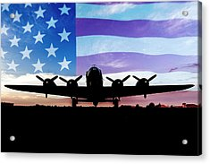 American B-17 Flying Fortress Acrylic Print