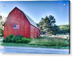Acrylic Print featuring the photograph American Barn by Sebastian Musial