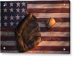 American Baseball Acrylic Print by Garry Gay