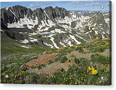 Acrylic Print featuring the photograph American Basin by Aaron Spong