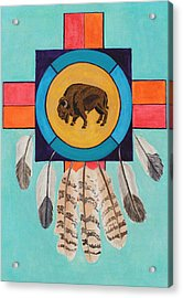 American Bison Dreamcatcher Acrylic Print