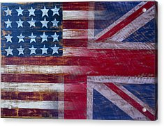 American British Flag Acrylic Print by Garry Gay