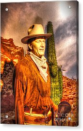 American Cinema Icons - The Duke Acrylic Print