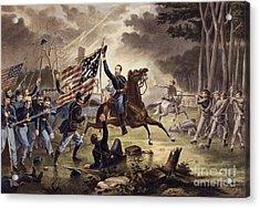 American Civil War General   Philip Kearny Acrylic Print by American School