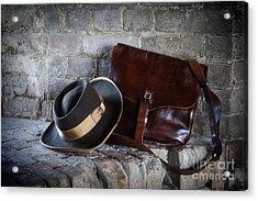 American Civil War Hat And Sack Acrylic Print