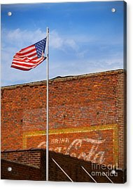 American Classics - Flag And Coke Acrylic Print