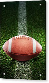 American College Football On Grass Acrylic Print by Skodonnell