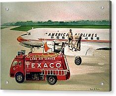 American Dc-6 At Columbus Acrylic Print by Frank Hunter