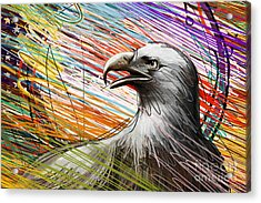 American Eagle Acrylic Print by Peter Awax