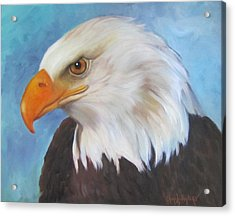 Acrylic Print featuring the painting American Eagle by Cheri Wollenberg