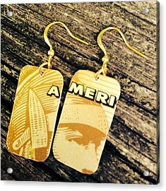 American Express Ooak Earrings Designed Acrylic Print