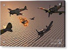 American F4u Corsair Aircraft Attacking Acrylic Print