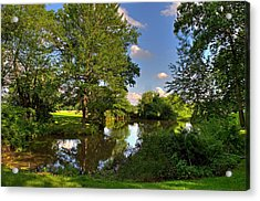 Acrylic Print featuring the photograph American Farm Pond by William Jobes