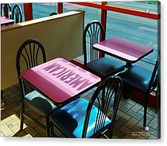 American Fast Food Acrylic Print by David Perry Lawrence