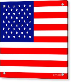 American Flag . Square Acrylic Print by Wingsdomain Art and Photography